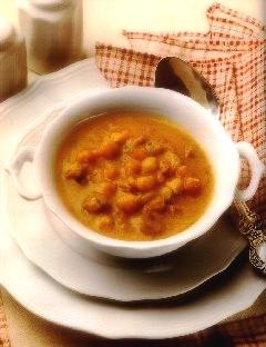 мясной суп с горохом